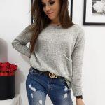 Svetlo-sivý dámsky sveter AMBER (my0668)