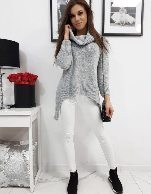 Svetlo-sivý dámsky sveter DENISA (my0671)