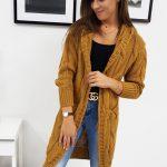 Trendový dámsky sveter EMERALD vo farbe camel (my0279)