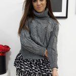 Trendový pletený dámsky sveter BOLIVIA (my0696)
