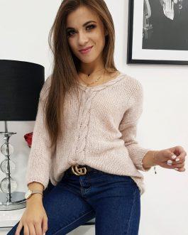 Trendový ružový sveter PRESCO (my0613)