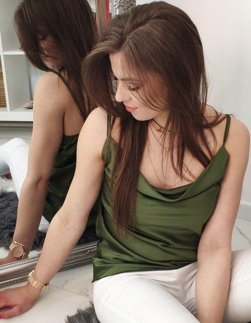 Zelená dámska blúzka na ramienka (ry1201)